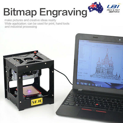 USB Mini Laser Engraver Printer Cutter Carver 1500mW DIY Mark Engraving Machine