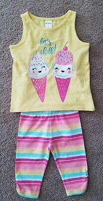 Gymboree Outfit lets chill Toddler Girl 2T NWT