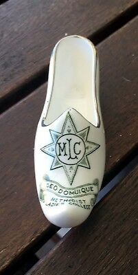 1950's Methodists Ladies College (MLC) Melb VIC ceramic souvenir shoe Grafton