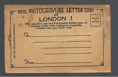 Real Photogravure Letter Card Of London