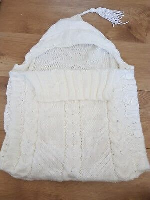 Baby Chunky Knitted Sleeping Bag/cosytoes