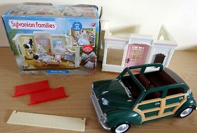 Sylvanian families bundle - Car and Dress shop - Incomplete