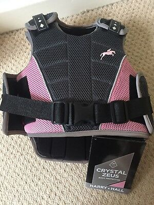 Harry Hall grey and pink Zeus child size S (small) body protector