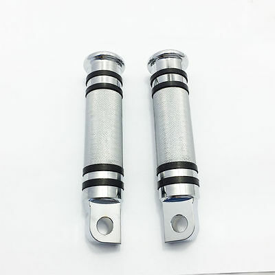 Motorcycle Malle mount Foot Pegs Footrests Footpeg For Harley Dyna XL883 Silver