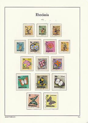 Rhodesia: 1974, Definitives, Antelopes, flowers and butterflies, VFU and CTO