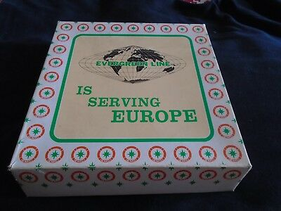 A Display Plate From The Evergreen Shipping Line From The 1970's In Box