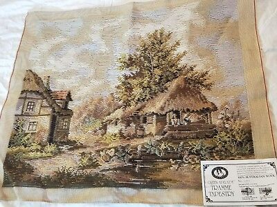 NEW QUEEN ADELAIDE Trammed TAPESTRY CANVAS & WOOL N21