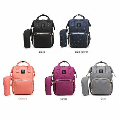 Fashion Mummy Maternity Nappy Diaper Bag Large Capacity Baby Travel Backpack FE