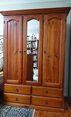 Pine Wardrobe With Matching Chest Of Drawers