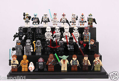 32Pcs Star Wars Rylo Ren stormtrooper yoda Darth Vader Custom Figure Fit lego