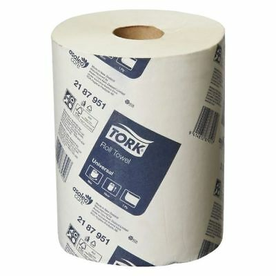 16 x 90m Paper Hand Towels Tork Towel Roll Bulk Industrial Kitchen White 1Ply