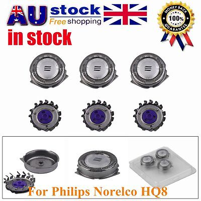 3/6 Pc Shaver Razor Head Replacement Blades Cutters for Philips Norelco HQ8 A7
