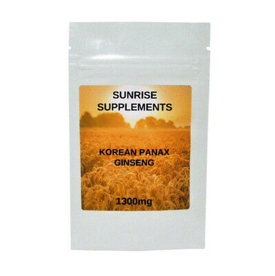 3 FOR 2 OFFER!! KOREAN (PANAX) GINSENG  TABLETS 120 x 1300mg UK MANUFACTURE
