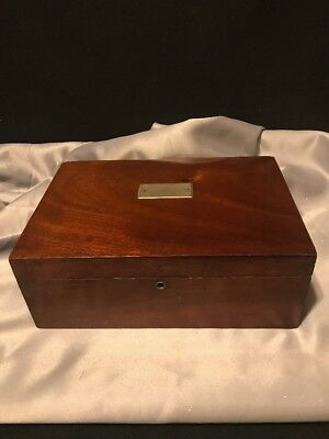 Vintage Wooden Humidor Box No Key