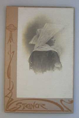 Antique Vintage Cabinet card photo portrait woman by Steiner