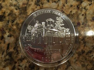 2016 P Harpers Ferry West Virginia ATB 5 oz Silver Coin
