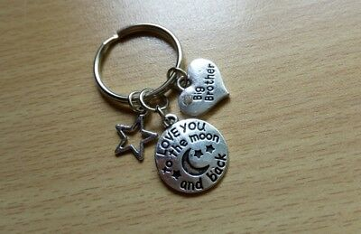 'Big Brother' I Love You to the Moon & Back Keyring with a Star Charm - Gift