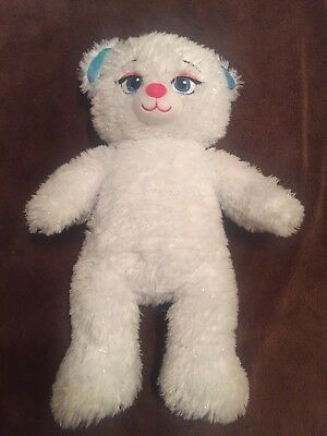 "Build A Bear 16"" Plush Elsa Frozen Sparkle White Plush Stuffed Animal Doll Teddy"