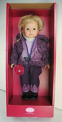"Gotz Doll Madeline With Tag Made In Germany 18"" Original Box Purple Jacket"
