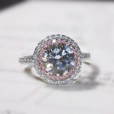 CertifIed 2.80Ct Round Cut Solitair Diamond Solid 14K White Gold Engagement Ring