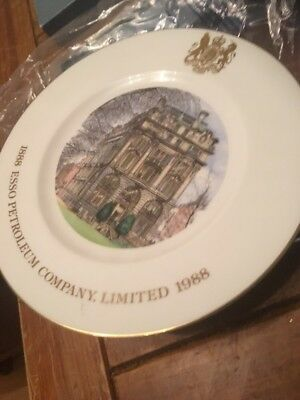 ESSO PETROLEUM COMPANY 1888-1988 WEDGWOOD PLATE And Stand