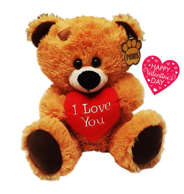 💕TEDDY BEAR I LOVE YOU Valentines Day Present Beige Brown 27cms Him Her Cute💕