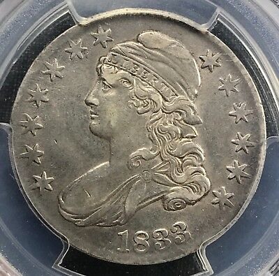 1833 Capped Bust Half Dollar  PCGS XF45  **Almost AU***