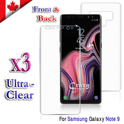3x 3D Full Coverage Film Screen Protector For Samsung Galaxy Note 9