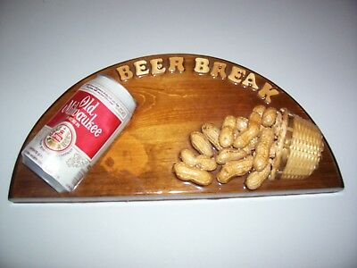 Unique Beer Break hanging wooden sign