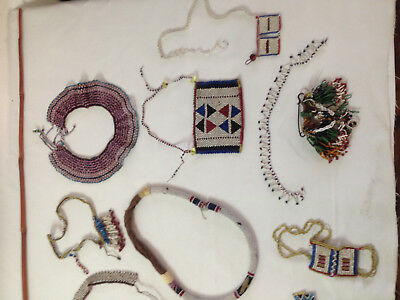 African Zulu Beads about 20 Antique items from around 1900