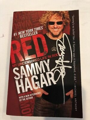 Signed Sammy Hagar book, Red My Uncensored Life In Rock