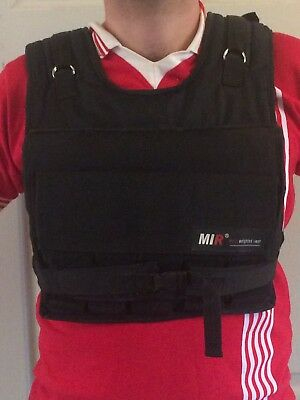 2009 MIR PRO Short Weighted Vest w/ 30lbs MIR Weights Black used