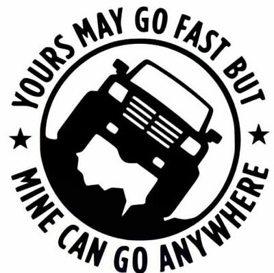 Large 4 x 4 Land Rover Jeep 4WD Truck Wall Car Van Sticker Funny vinyl decal