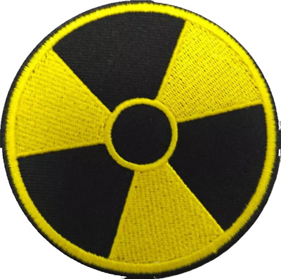 Radioactive Zombie Nuclear Hazard Embroidered Logo Patch Badge Iron On / Sew On