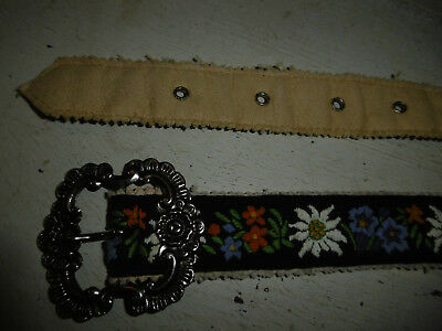 Vintage embroidered Swiss belt c. 1930s 1940s, good condition
