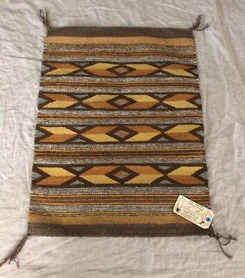 "Native American Mary Wingate Navajo Handwoven Rug 30"" X 23"" Hubbell Trading Post"