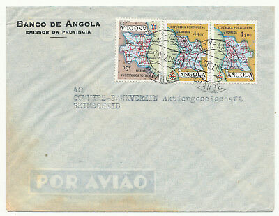 Angola Commercial Covers To West Germany 6 Different (1955-1969)