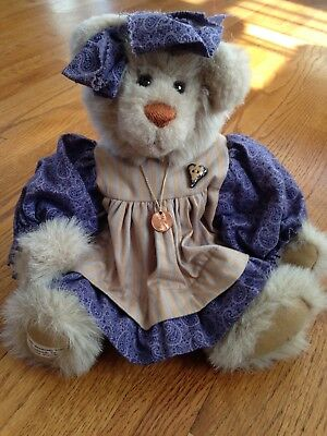 """Girl Handmade Plush 15"""" Fully Jointed Bear by Penny French"""
