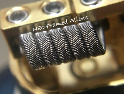 2x FULL N80 6 Ply Framed Staple Alien Coils (5 Wrap) + Free Coils! (Nichrome 80)