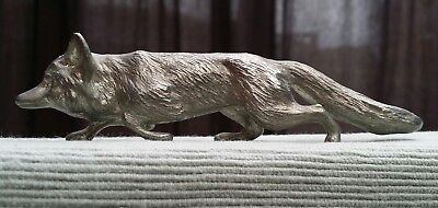 Beautiful Antique silver plate English figure of a fox