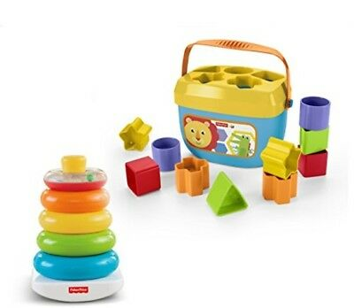 Fisher-Price Rock-a-Stack amp Baby's First Blocks Bundle [ Exclusive]