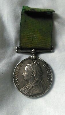 Volunteer Long Service Medal 983 Pte W Martin Linc's Regiment