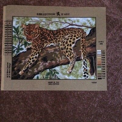 Collection D' Art  Leopard Tapestry Canvas