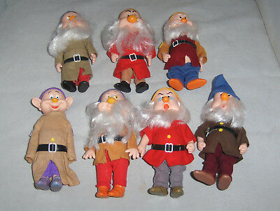 Bikin Walt Disney Co. Seven Dwarfs Jointed Plastic Figures Dolls Very Nice
