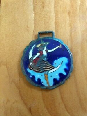 Miller High Life beer watch fob girl in the moon porcelain