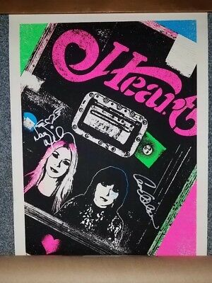 Heart 2016 Tour Poster - Signed By Ann & Nancy Wilson