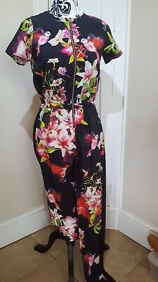 TED BAKER Zip Front FLORAL JUMPSUIT AGE 12/13 YRS