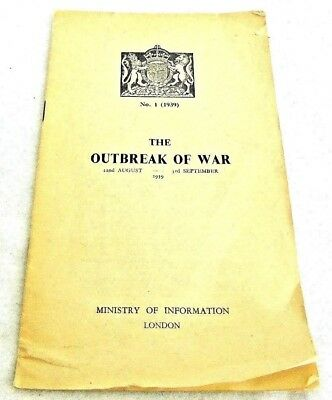 The Outbreak Of War, 22nd August-3rd September 1939, Booklet