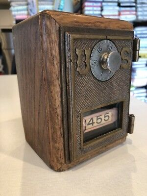 "Vintage US Post Office US Door Mail Box Bank. Sam Criswell Hand Crafted ""Works"""