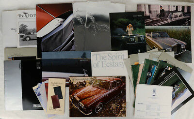 Large Lot of Rolls Royce & Bentley Assorted Sales Brochures & The Flying Lady